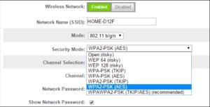 استانداردهای رمزنگاری وای فای